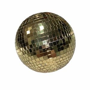 MINI GOLD DISCO BALL WITH STAND